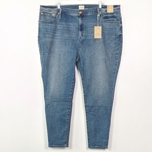 J. Crew High Rise Toothpick Eco Jeans Size 37 NWT